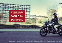 Offre TAEG 2,9% + valises TIGER 1200